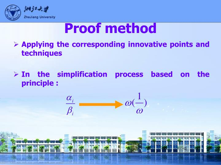 Proof method