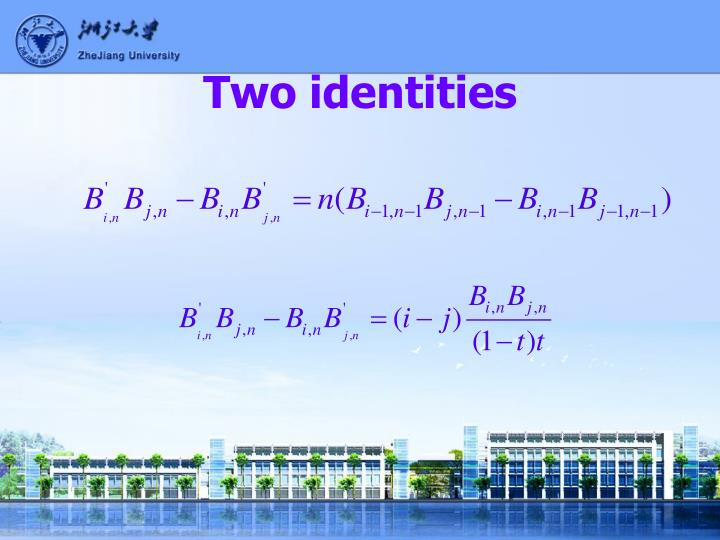 Two identities