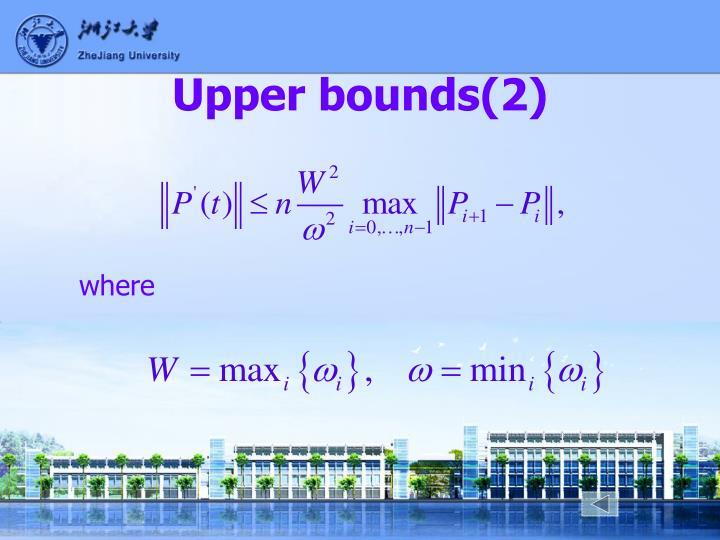 Upper bounds(2)
