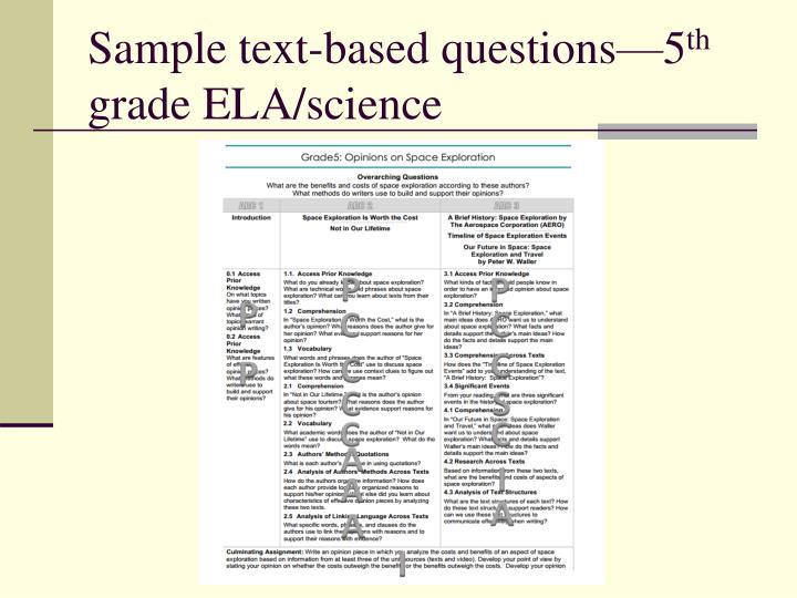 Sample text-based questions—5