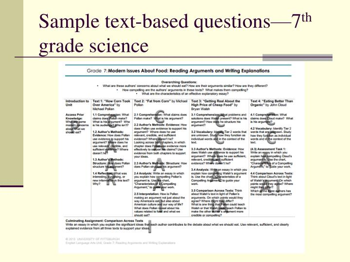 Sample text-based questions—7