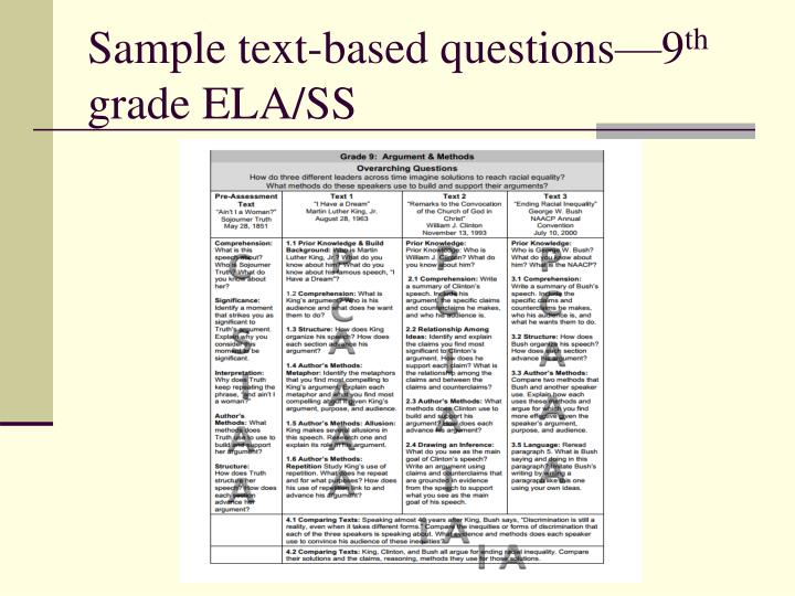Sample text-based questions—9