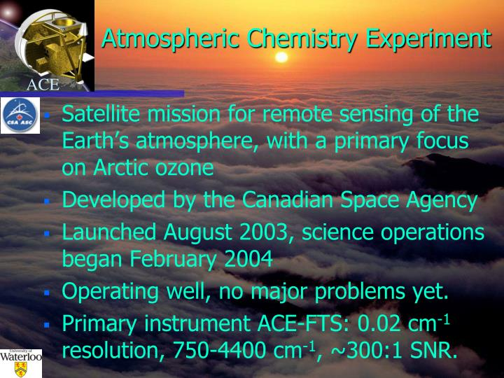 Atmospheric chemistry experiment