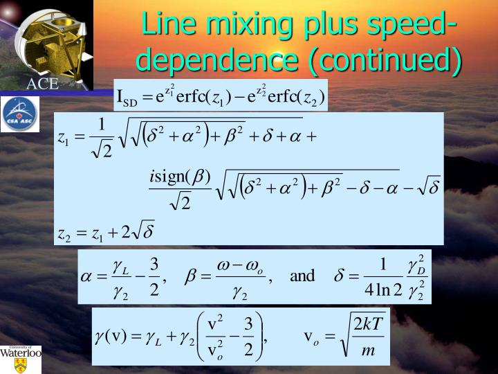 Line mixing plus speed-dependence (continued)