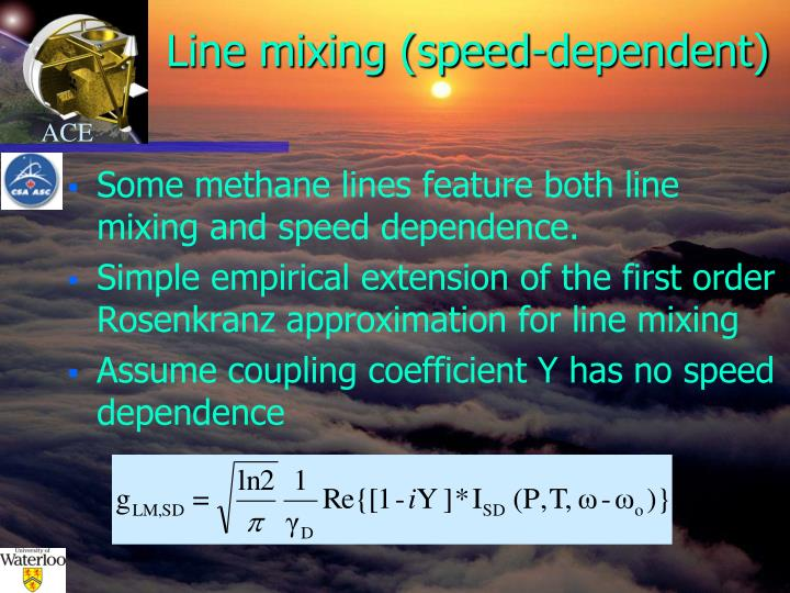 Line mixing (speed-dependent)