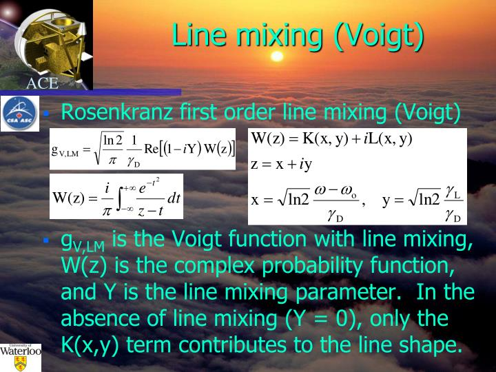 Line mixing (Voigt)