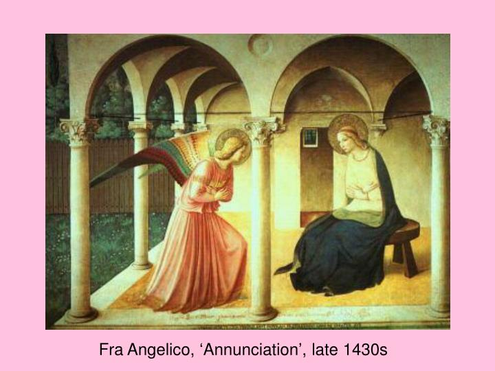 Fra Angelico, 'Annunciation', late 1430s