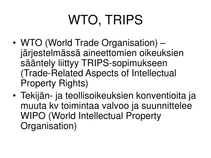 WTO, TRIPS