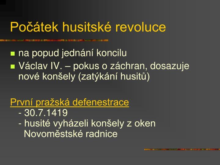 Počátek husitské revoluce