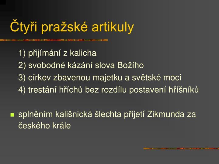 Čtyři pražské artikuly