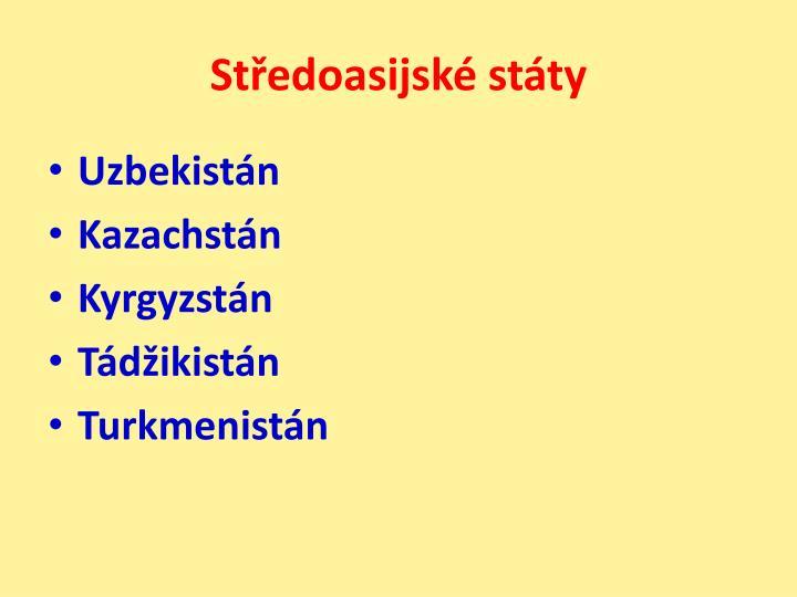 Středoasijské státy
