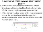 3 pavement performance and traffic safety