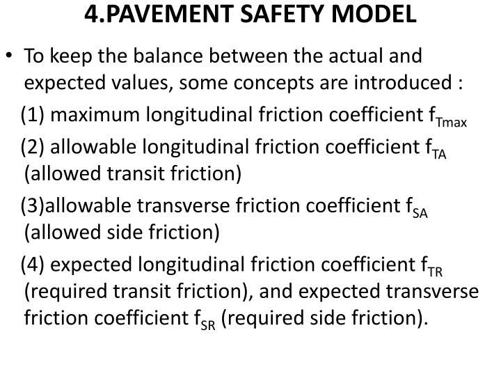4.PAVEMENT SAFETY MODEL