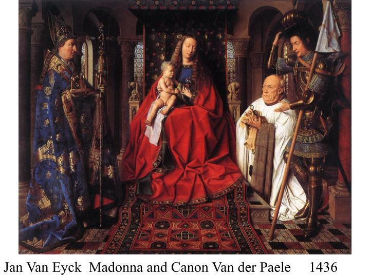 Jan Van Eyck  Madonna and Canon Van der Paele     1436