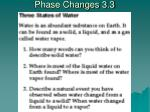 phase changes 3 3