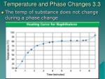 temperature and phase changes 3 3
