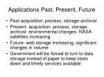 applications past present future