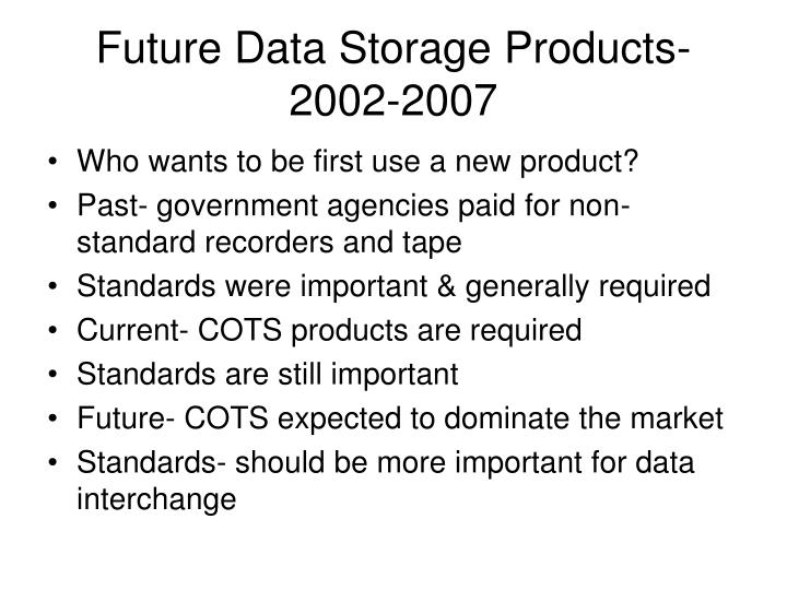 Future Data Storage Products-2002-2007