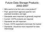 future data storage products 2002 2007