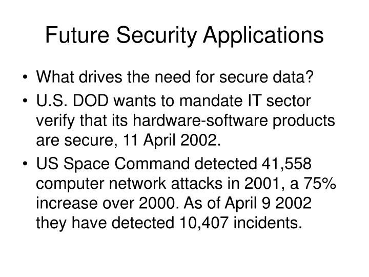 Future Security Applications