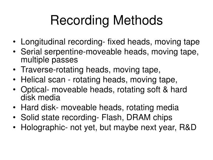 Recording Methods
