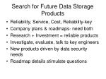 search for future data storage products