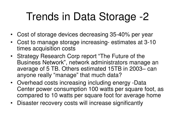 Trends in Data Storage -2