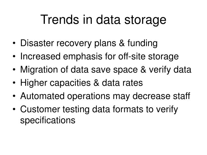 Trends in data storage
