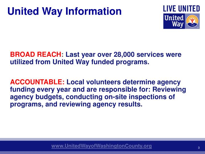United Way Information