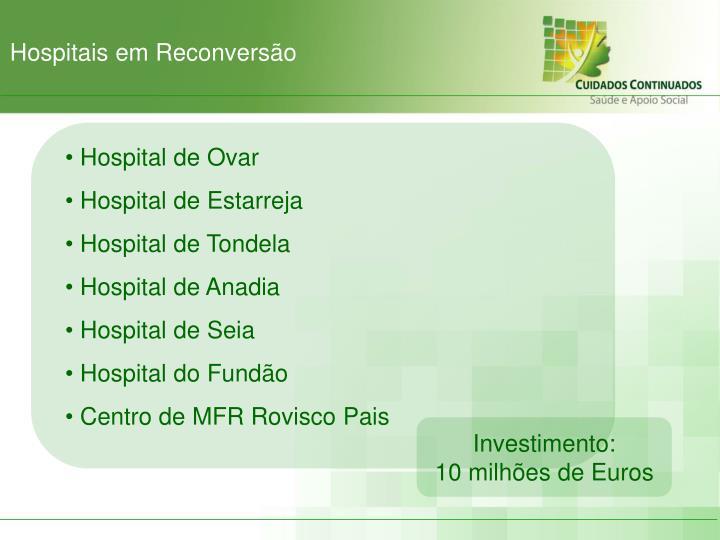 Hospitais em Reconversão