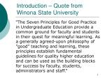 introduction quote from winona state university