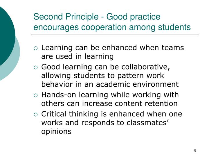 Second Principle - Good practice encourages cooperation among students