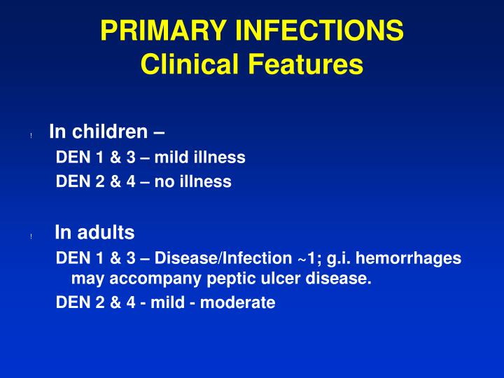 PRIMARY INFECTIONS