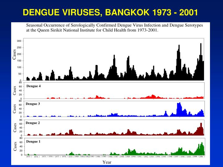 DENGUE VIRUSES, BANGKOK 1973 - 2001