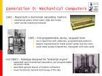 generation 0 mechanical computers