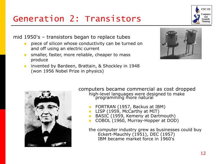 Generation 2: Transistors