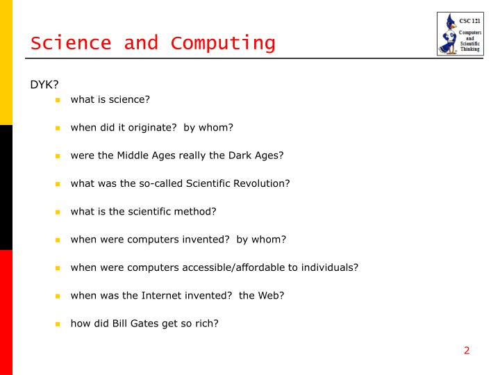 Science and computing