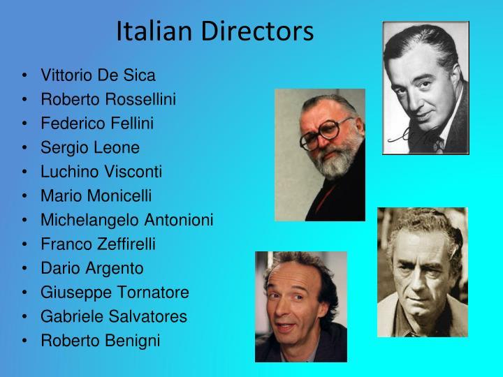 Italian Directors