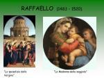 raffaello 1483 1520