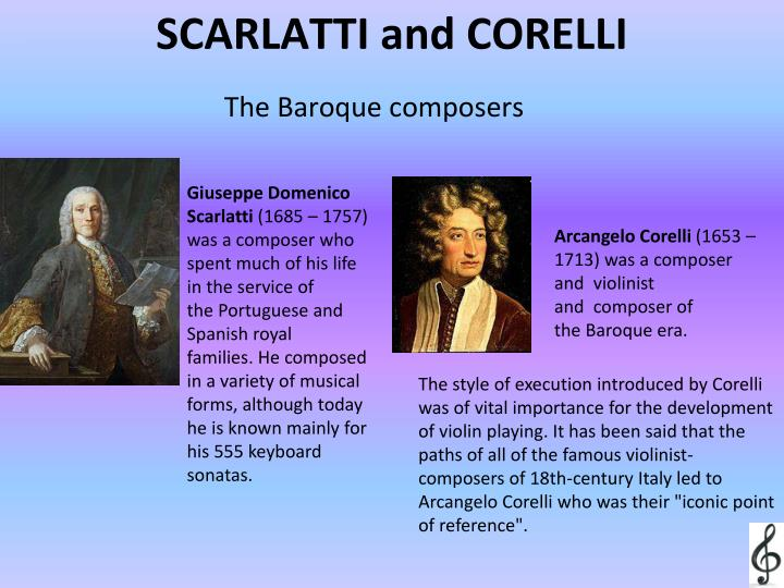SCARLATTI and CORELLI
