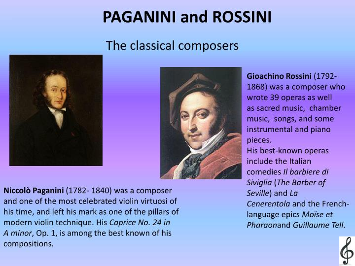 PAGANINI and ROSSINI