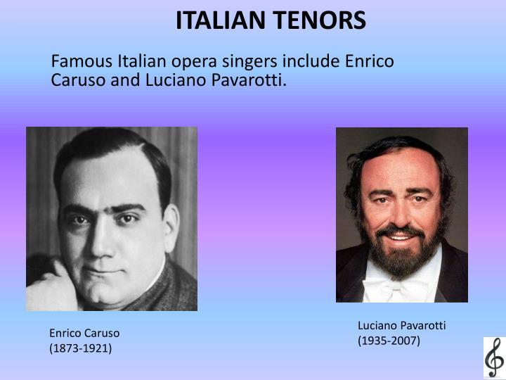 ITALIAN TENORS