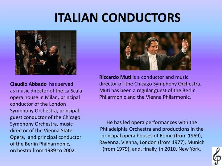 ITALIAN CONDUCTORS