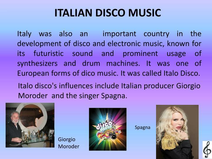 ITALIAN DISCO MUSIC