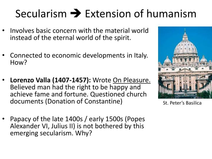 Secularism extension of humanism