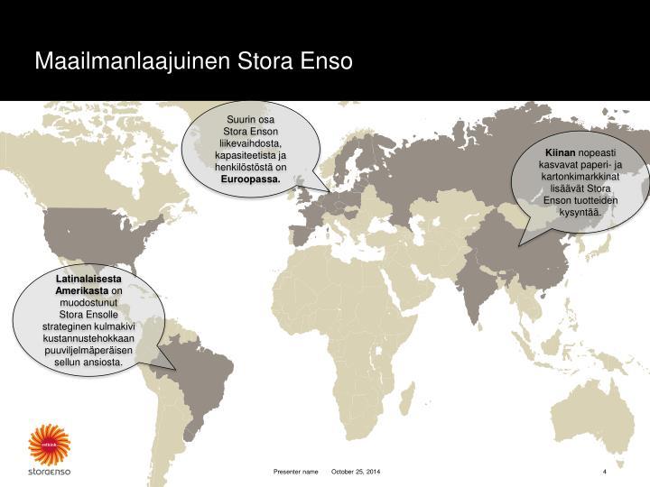 Maailmanlaajuinen Stora Enso
