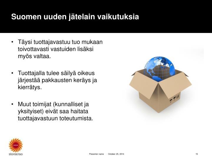 Suomen uuden jätelain vaikutuksia