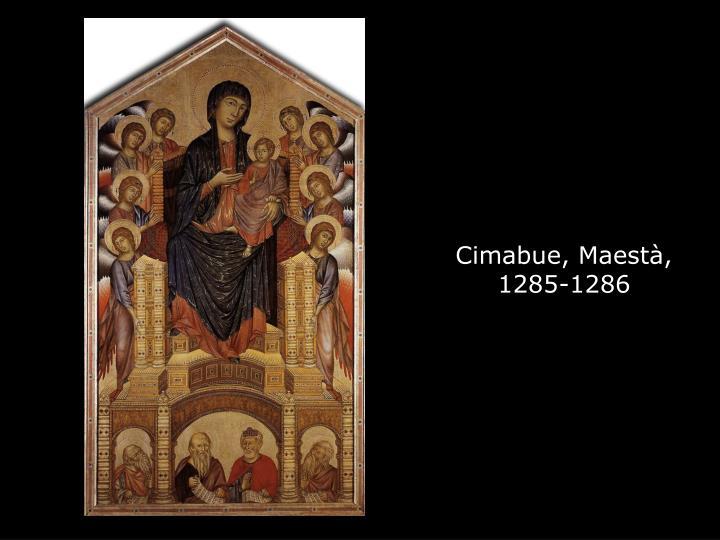 Cimabue, Maestà,