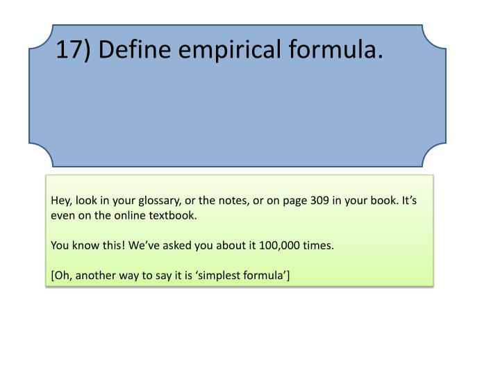 17) Define empirical
