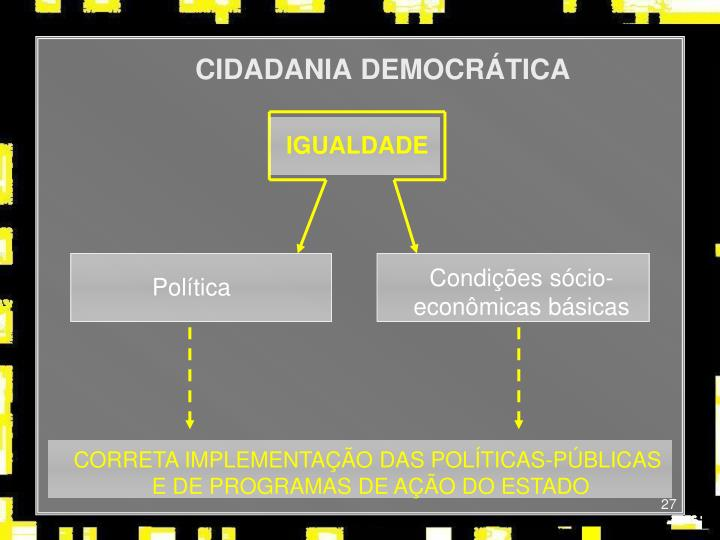 CIDADANIA DEMOCRÁTICA